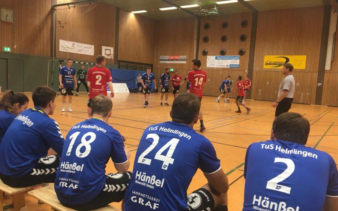 SHV Pokal 1.Runde TuS Großweier I – TuS Helmlingen I 10:30 (6:17)